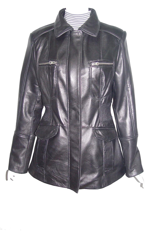 Nettailor WoHerren Plusgr??e 4203 Leder l?ssig JackePlacket Front Brust Tasche günstig kaufen