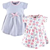 Touched by Nature Baby Girls' Organic Cotton Dress, 2 Pack, Pink Rose, 3 Toddler
