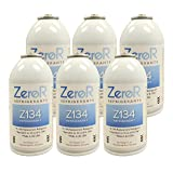 ZeroR AC Refrigerant 6 Cans - Better Than R134a - Made in USA - Natural Non Ozone Depleting (Tamaño: 6oz = 16oz of R-134a)