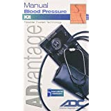 ADC Advantage 6005 Manual Blood Pressure Kit, Includes Attached Stethoscope and Carrying Case, Adult BP Cuff, Black