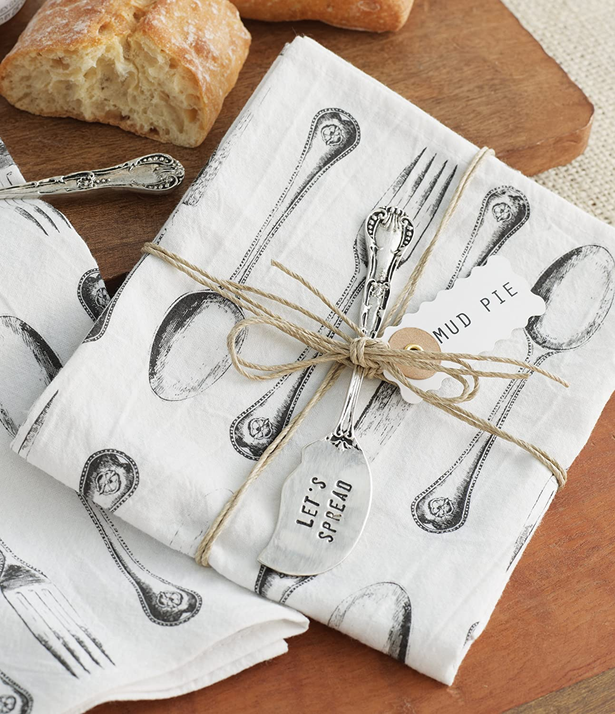 Mud Pie Silverware, Printed Towel and Spreader - Kitchen Utensils Gift Sets 115039MUDP скрабы и пилинги ahava deadsea mud natural dead sea mud объем 400 г