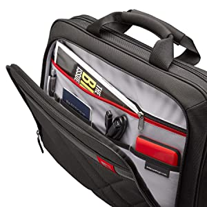inside Case Logic DLC-115 15.6-Inch Laptop and Tablet Briefcase