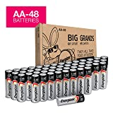 AA Batteries - 48 Count, Energizer MAX Premium Alkaline Double A Battery (Tamaño: AA-48)