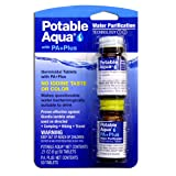 Potable Aqua Water Purification Tablets with PA Plus neutralizing tablets - Portable Drinking Water Treatment for Camping, Emergency Preparedness, Hurricanes, Storms, Survival, and Travel (50 Tablets) (Color: P.A. Plus, Tamaño: ##REBEL)