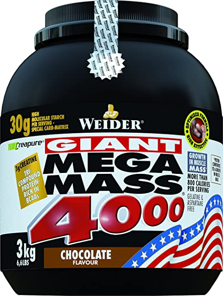 Weider Mega Mass 4000, Schoko, 3kg Dose