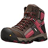 Keen Utility Men's Davenport Mid Waterproof Industrial and Construction Shoe, Cascade Brown/Red Dahlia, 12 D US (Color: Cascade Brown/Red Dahlia, Tamaño: 12 M US)