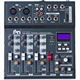 Proslogan SX-4SD Professional 4-Channel Mixing Console with Monitor and Effect Processor