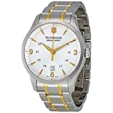 Victorinox Swiss Army Men's 241477 Silver Dial Watch (Color: Silver/Two Tone)