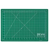 Breman Precision Self Healing Cutting Mat I Sewing Craft Quilting Fabric Rotary Cutting Mat I Perfect for Crafters Hobbyists and Artists I 2 Sided 5 Ply PVC Craft Mat with Grid Lines I A3 12x18 inches (Tamaño: A3(18X12) Inches)