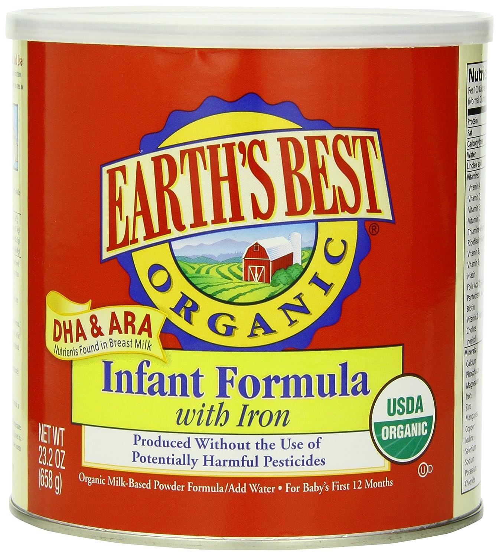 EARTH'S BEST世界最好婴儿有机强化铁奶粉 658克*4罐装,现仅.18 - 第1张  | 淘她喜欢