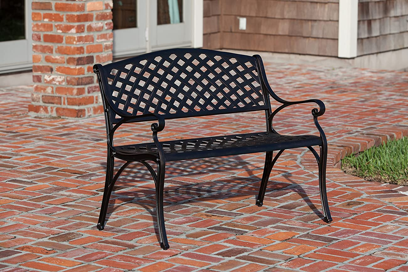 Patio Sense Antique Bronze Cast Aluminum Patio Bench 1