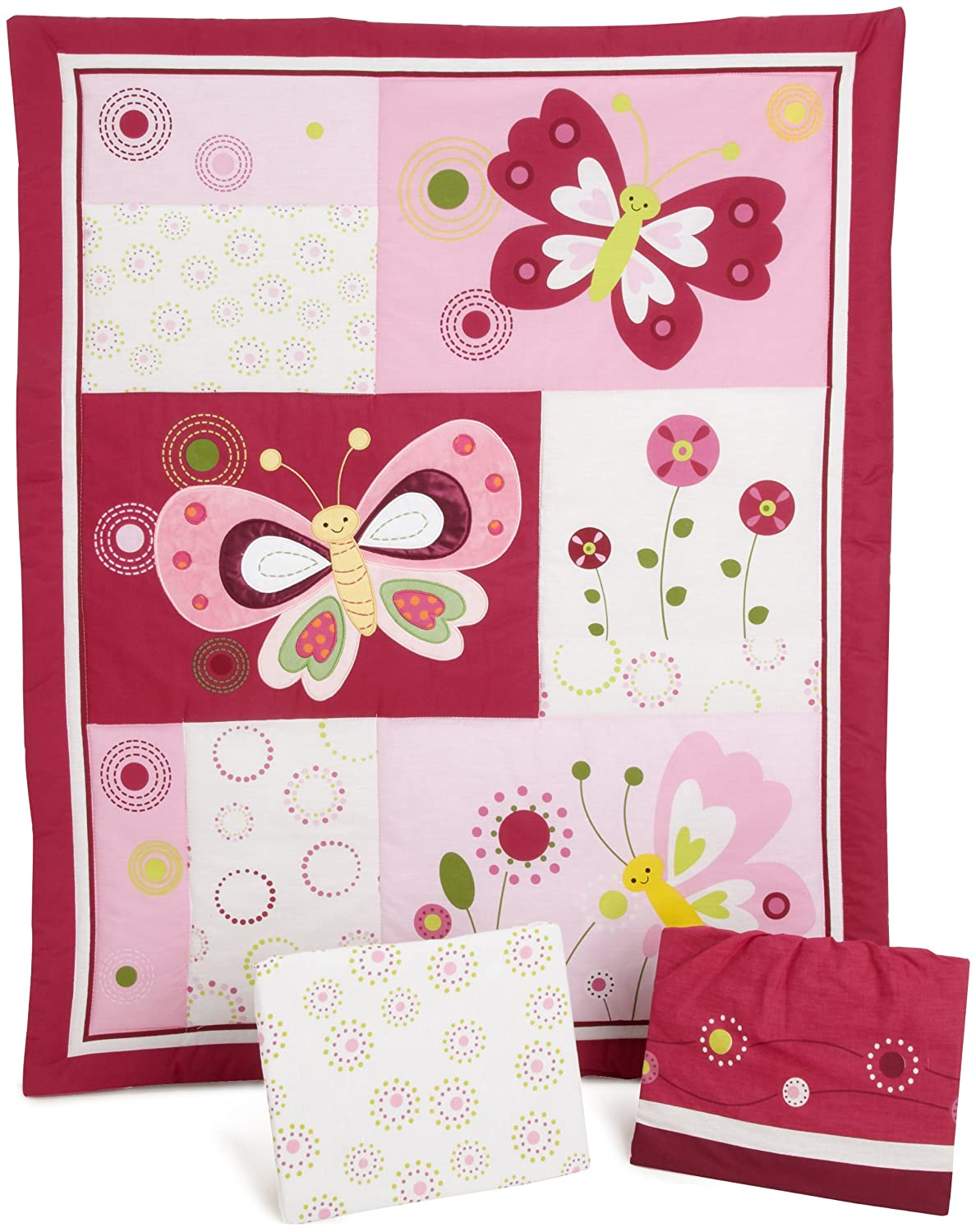 Bedtime Originals Pink Butterfly Bedding