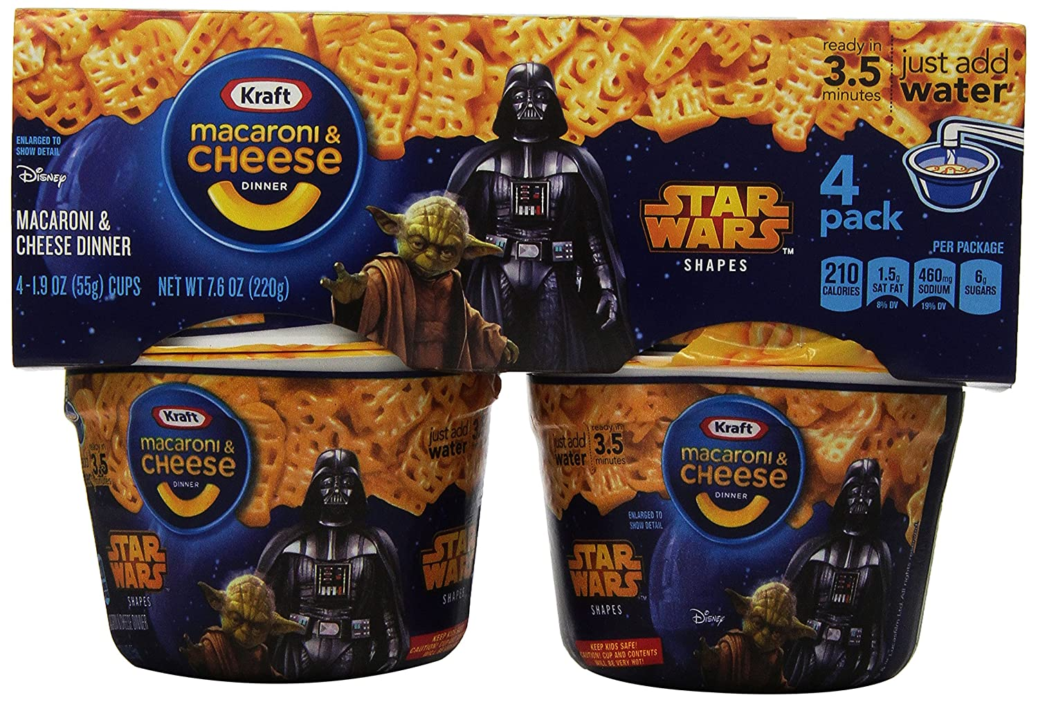 Kraft Easy Mac and Cheese Star Wars Shapes Single Serve Cups, 7.6 Ounce