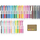 Zebra Sarasa Clip 0.5 Retractable Gel Ink Pen, Rubber Grip, 0.5 mm, 38 Color Ink, Sticky Notes Value Set (Color: 38 Color Ink, Tamaño: 0.5mm)
