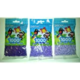 Perler Bead Bag, Purple Group Purple, Light Lavender, Pastel Lavender (Color: Purple, Light Lavender & Pastel Lavender, Tamaño: 5mm)
