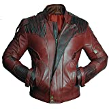 Premium Leather Garments Star Lord Guardians Of Galaxy 2 Chris Pratt Real Leather Jacket (3XL - Suitable For Chest Size 46