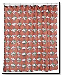 Santa Claus Fabric 6 by 6 Shower Curtain