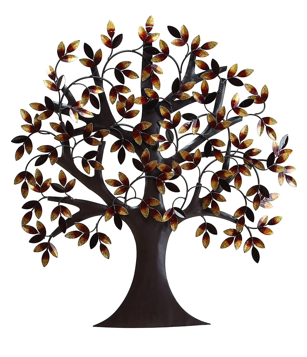 Metal tree decor wall stickers from rust free premium for Tree wall art