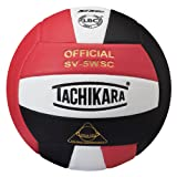 Tachikara Sensi-Tec Composite High Performance Volleyball (Scarlet/White/Black)