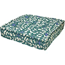 Home Organic Vines Cushion Teal