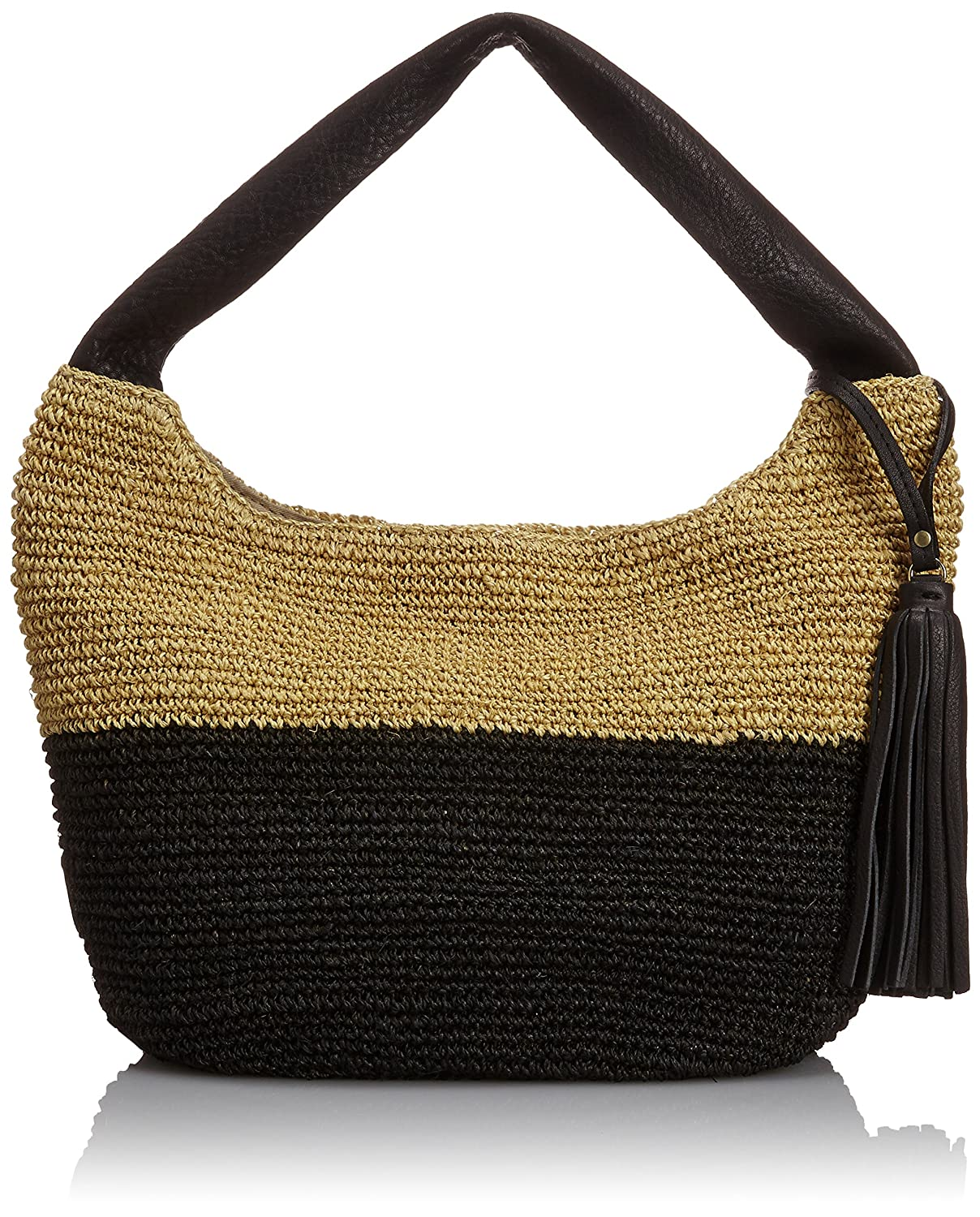 Amazon.co.jp: [ヴィオラドーロ] VIOLAd'ORO Basket Bag V-8034 BK (natural x black): シューズ&バッグ:通販