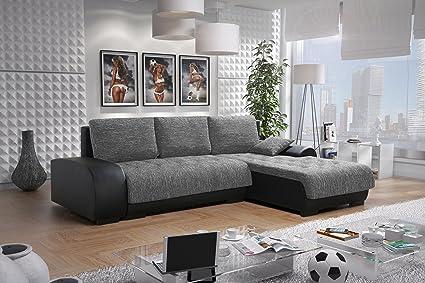 Sofa Couchgarnitur Couch Sofagarnitur LEON 6 L Polstergarnitur Polsterecke Wohnlandschaft mit Schlaffunktion