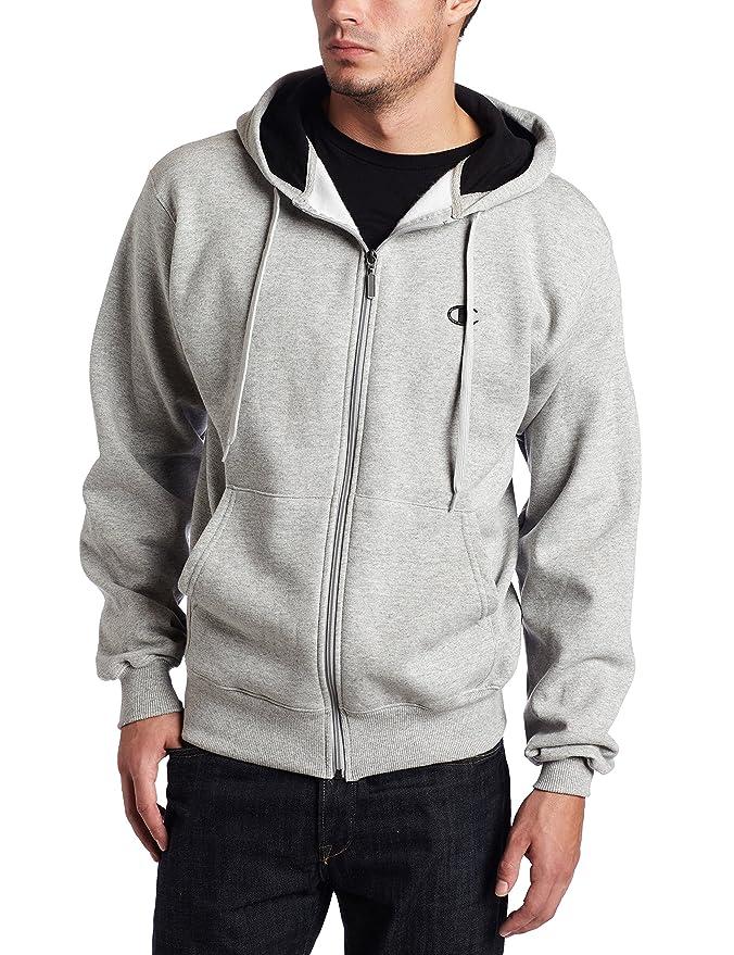 Gray Zip Eco Fleece Hoodie Jacket by Champion