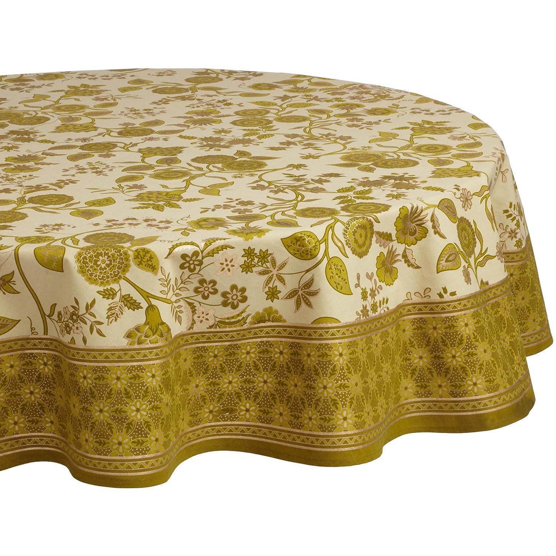 Mahogany Jaisalmer Printed 70-Inch Round Cotton Tablecloth