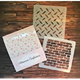 Tool Cookie Stencil - American Confections - Paint Splatter, Brick, Tool Box - Set of 3