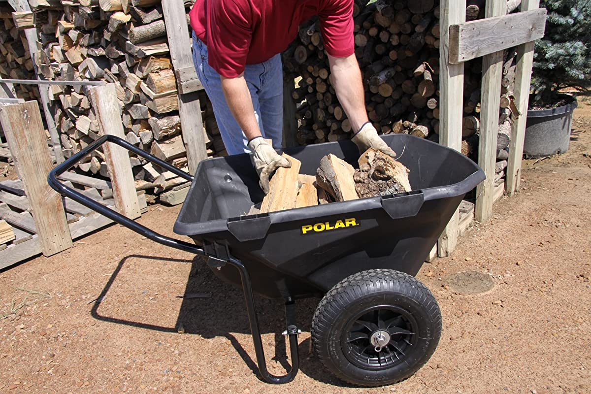 Polar Trailer 8449 7 Cubic Feet Heavy-Duty Cub Cart, 50 by 28 by 29-Inch