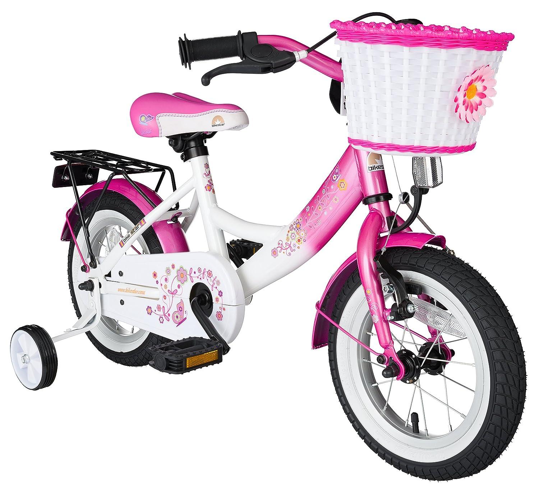 BIKESTAR® Premium Kinderfahrrad für sichere und sorgenfreie Spielfreude ab 3 Jahren ★ 12er Classic Edition ★ Flamingo Pink & Diamant Weiß günstig als Geschenk kaufen