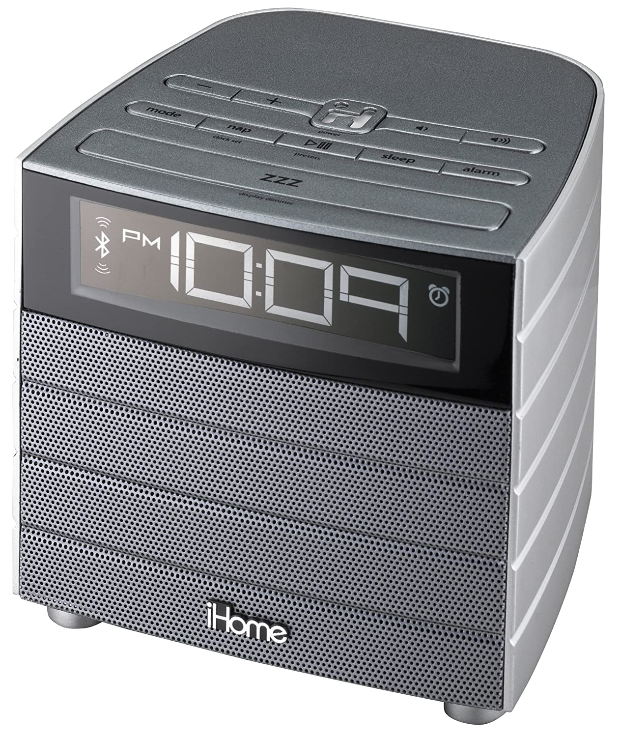 ihome ibn20gc bluetooth wireless fm clock radio with usb charging radio alarm clocks electronics. Black Bedroom Furniture Sets. Home Design Ideas