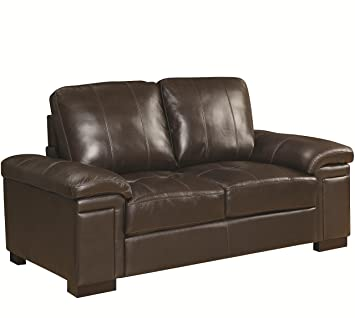 Loveseat in Dark Brown