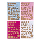 Quilling Boards - 4-Pack Paper Quilling Template Board Set, Quilling Molds with Scale, Paper Crafting Essential for Quillers, 4 Assorted Colors (Color: multi)