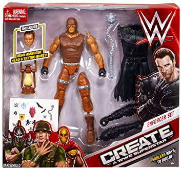 WWE – Create a WWE Superstar – Dean Ambrose Enforcer Set – Figurine Personnalisable 15 cm