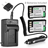Kastar Battery (2-Pack) and Charger Kit for Olympus BLM-1, BLM-01, PS-BLM1 work for Olympus C-5060, C-7070, C-8080, E-1, E-3, E-30, E-520, EVOLT E-300, E-330, E-500, E-510 Cameras (Tamaño: 2 batteries + 1 charger)