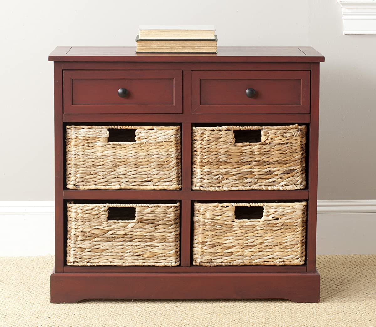 Safavieh American Homes Collection Herman Red Storage Unit