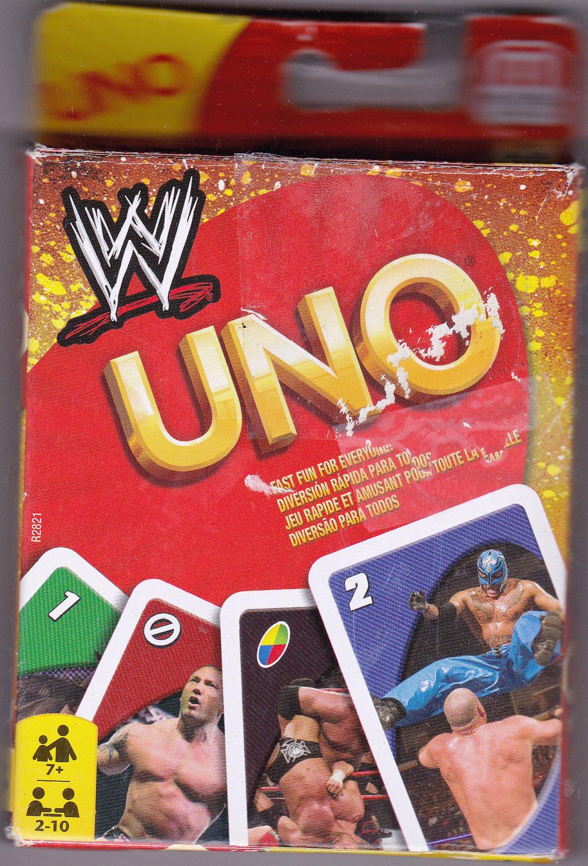 UNO Card Game Mattel WWE Wrestling Uno Card Game