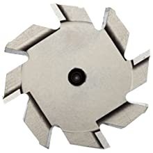"Niagara Cutter TS109 T-Slot Shank Type Cutter, High Speed Steel, Uncoated (Bright), Weldon Shank, 10 Helix Angle, 1-1/2"" Cutter Diameter, 8 Tooth, 1/4"" Width"