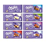 Milka Assorted Chocolates Variety Pack of 8 Bars (Tamaño: 3.53 Ounces)