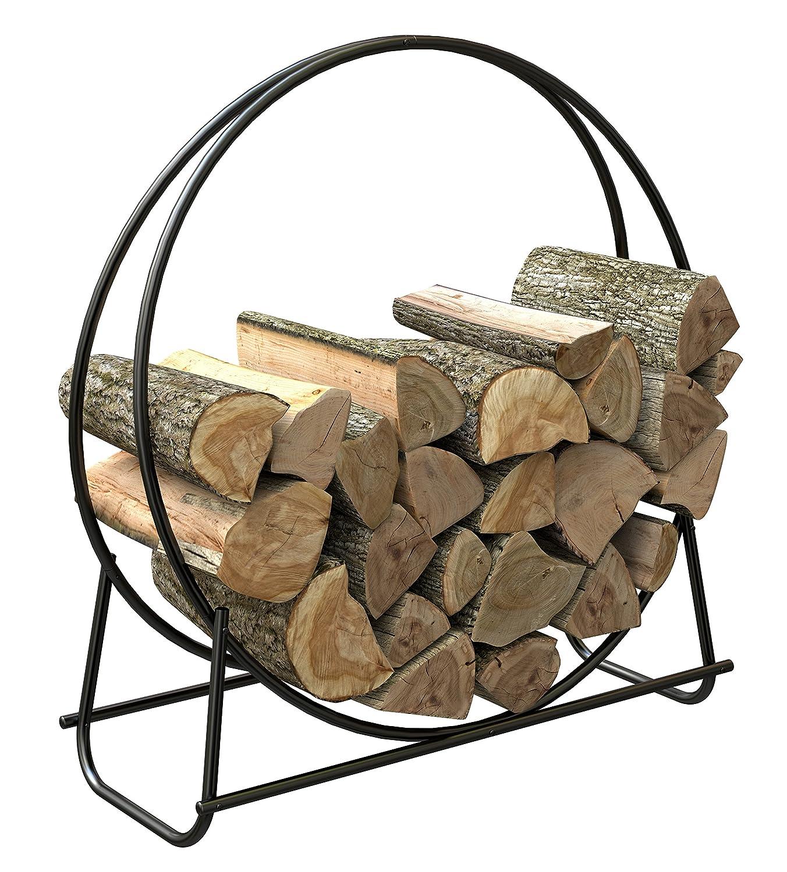 Wood Rack Steel Log Hoop Storage 40