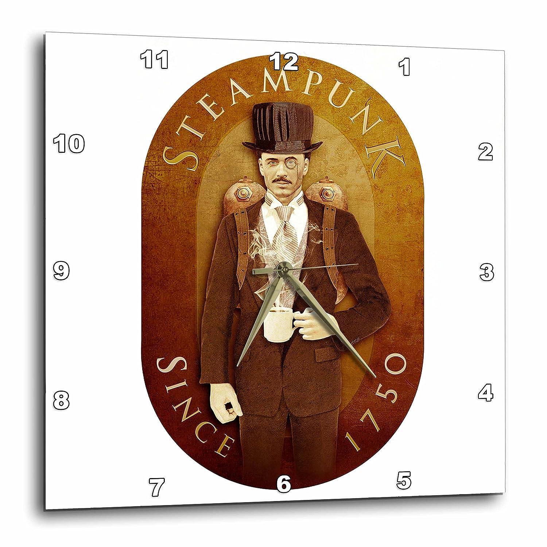 3dRose dpp_12656_1 Wall Clock, Steampunk, 10 by 10-Inch