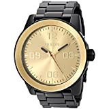 Nixon Mens Corporal SS Japanese quartz Stainless Steel watches Black/Gold A346