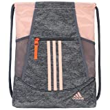 adidas Alliance II Sackpack (One Size, Jersey Onix/Glow Pink/Hi Res Coral/Onix) (Color: Jersey Onix/Glow Pink/Hi Res Coral/Onix, Tamaño: One Size)
