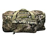 Military Tactical Wheeled Deployment Trolley Duffel Bag Heavy-Duty Camping Hiking Running Trekking (08360A Multicamo)