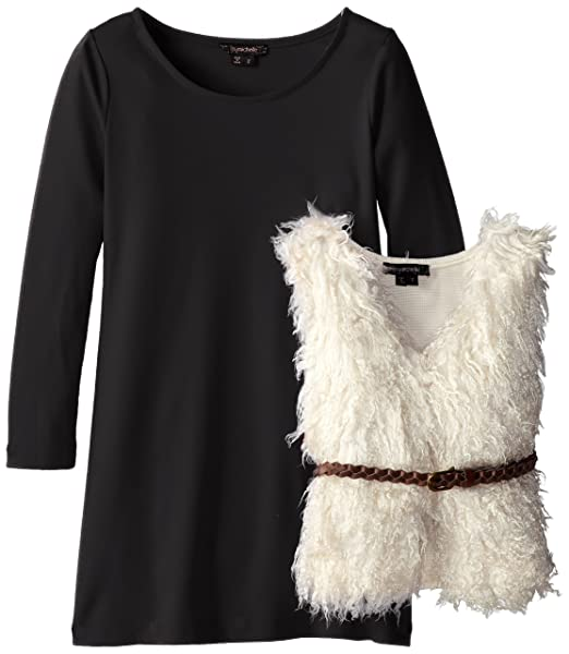 My-Michelle-Big-Girls-Long-Sleeve-Dress-with-Furry-Vest