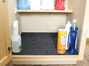 Drymate Under The Sink Mat, Premium Shelf Liner, Cabinet Mat - Absorbent/Waterproof - Protects Cabinets, Contains Liquids (24 x 29) Made in the USA (Color: Charcoal, Tamaño: 24 x 29)
