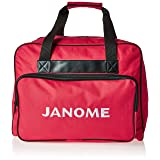 Janome Red Universal Sewing Machine Tote Bag, Canvas (Color: Red)