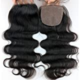 Dreambeauty Cheap Silk Base Closure Straight Silk Closure Virgin Hair Brazilian Body Wave Closure Human Hair Free Part Silk Base Closure 12inch