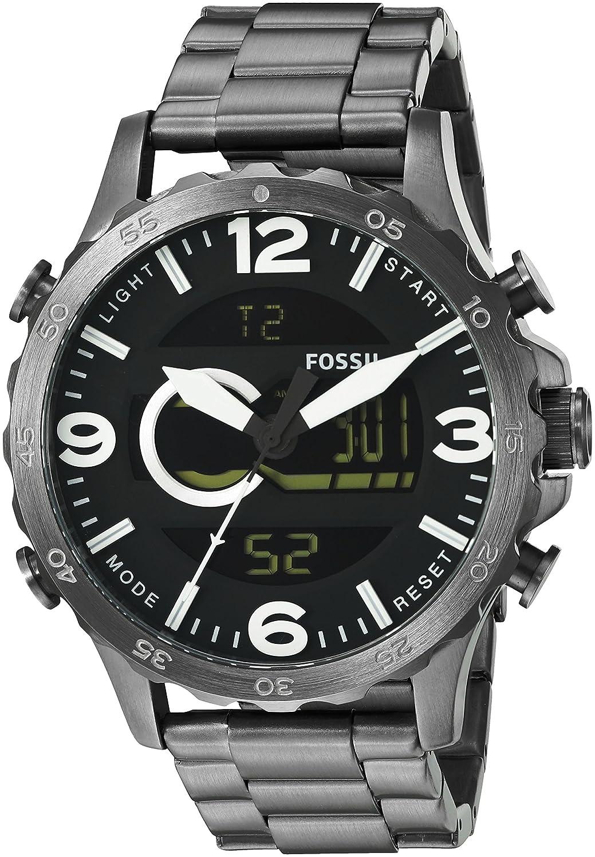 buy fossil nate casual analog digital black dial men s watch buy fossil nate casual analog digital black dial men s watch jr1491 online at low prices in amazon in